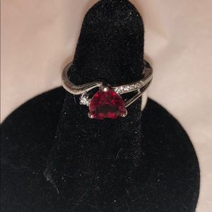Ruby cocktail ring size 7